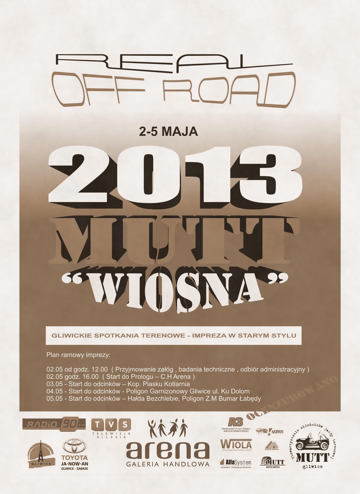 MUTT WIOSNA 2013 – informacje